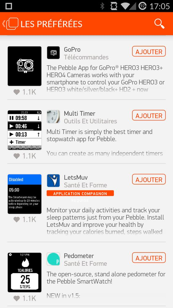 applications Pebble Time